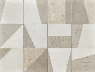 Декор (20x20) AG201D Shape Shaded White - Argillae