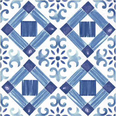 Плитка (60x60) Maiolica Blue pattern #4 - Maiolica Mix
