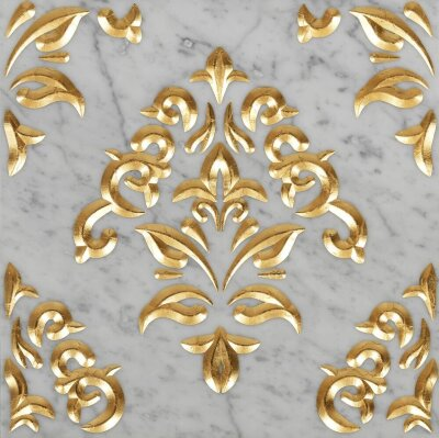 Декор (60x60) Luxury6CarraraGhiaccioGold - Luxury