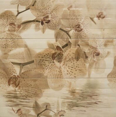 Декор (25x75) DECOR ORCHID-3 BEIGE (набор 3 шт.)