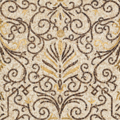 Мозаика (78.9x78.9) 68307 RosoneMos.Beige-oro - Exclusive