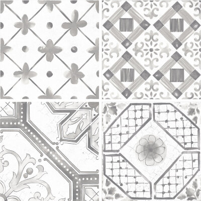 Плитка (60x60) Maiolica Grey mix (4 patterns) - Maiolica Mix