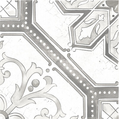 Плитка (60x60) Maiolica Grey pattern #2 - Maiolica Mix