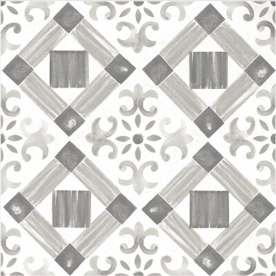 Плитка (60x60) Maiolica Grey pattern #4 - Maiolica Mix