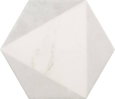 Плитка (17.5x20) 23102 Carrara hexagon peak Eq-10D - Carrara