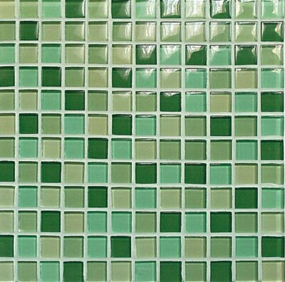Мозаика (30x30) 03300022 Green Glossy Mix - Crystal-C