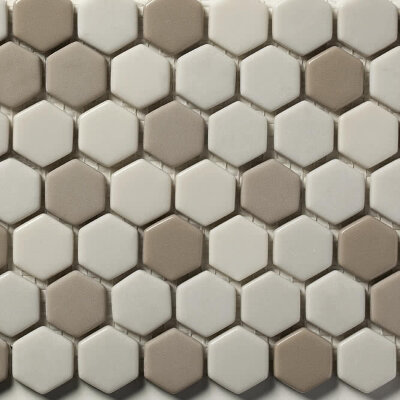 Мозаика (31x30.8) STENABL66/HEX23 Blend66 23*6Mm - Contemporanea Enameled Glass