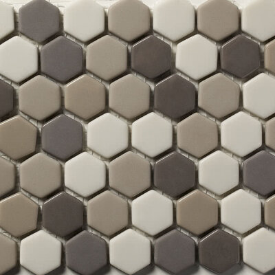 Мозаика (31x30.8) STENABL76/HEX23 Blend76 23*6Mm - Contemporanea Enameled Glass