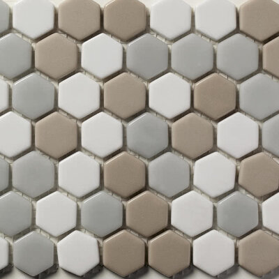 Мозаика (31x30.8) STENABL97/HEX23 Blend97 23*6Mm - Contemporanea Enameled Glass