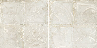 Декор (30x30) Patina Metal White in Relief - Tin Tiles