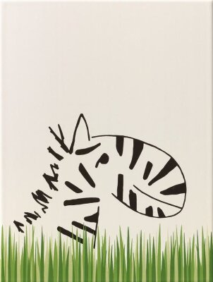 Декор (25x33) y34043001 decor zebra/grass border mat - Louis & Ella