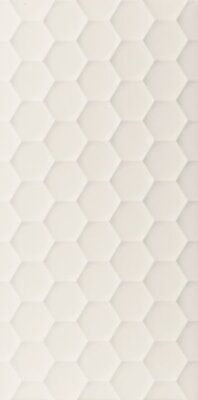 Плитка (40x80) D729 4D.HEXAGON WHITE MATT - 4D