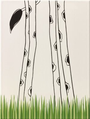 Декор (25x33) y34047001 decor giraffe legs/grass mat - Louis & Ella