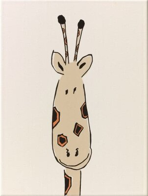 Декор (25x33) y34055001 decor giraffe head mat - Louis & Ella
