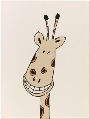 Декор (25x33) y34056001 decor smiling giraffe mat - Louis & Ella