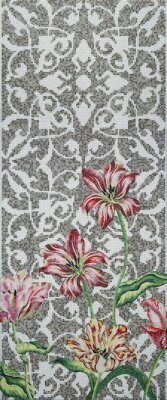 Мозаика (290.5x120.5) Tulips Grey C - Decori in Tecnica Artistica