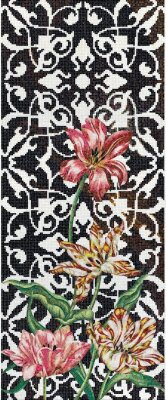 Мозаика (290.5x120.5) Tulips Single - Decori in Tecnica Artistica