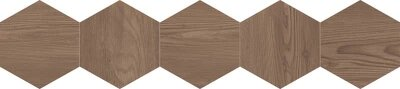 Декор (20x90) 25DH29NT5BF DecNaturalHexagonBrown - Natural
