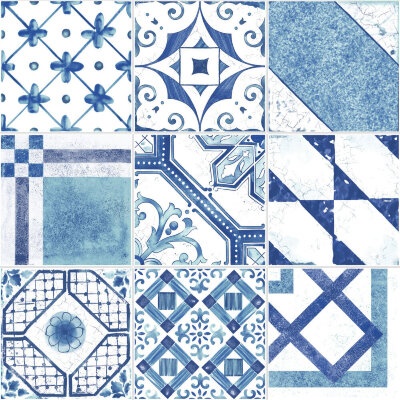 Плитка (20x20) Maiolica Blue mix (9 patterns) - Maiolica Mix