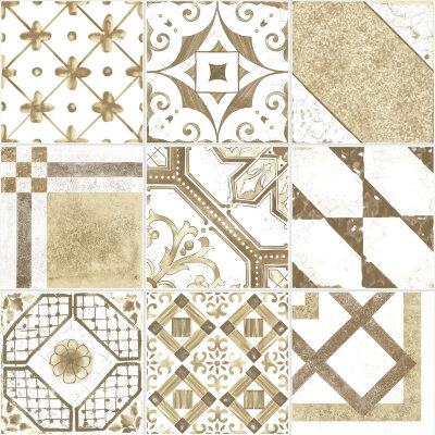 Плитка (20x20) Maiolica Brown mix (9 patterns) - Maiolica Mix
