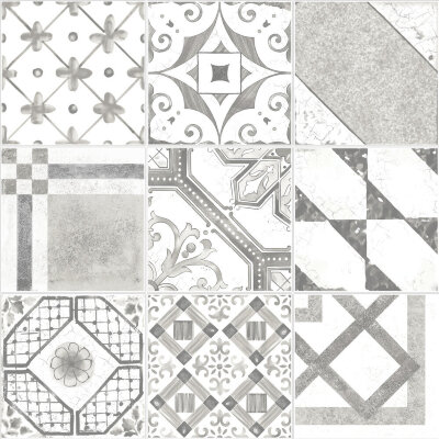 Плитка (20x20) Maiolica Grey mix (9 patterns) - Maiolica Mix