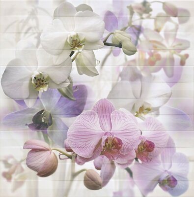 Декор (25x75) DECOR ORQUIDEA-3 LILA  (набір 3 шт.)