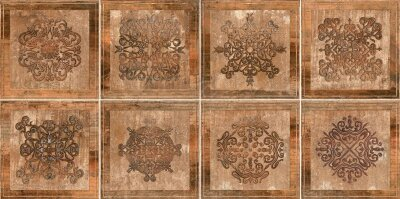 Плитка (45x45) NEWCASTLE BROWN DECOR