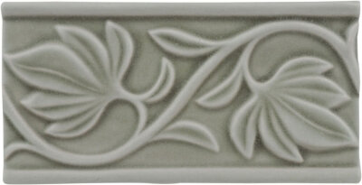 Бордюр (7.5x15) ADNT5031 Relieve Manual Hojas Smoke - Nature